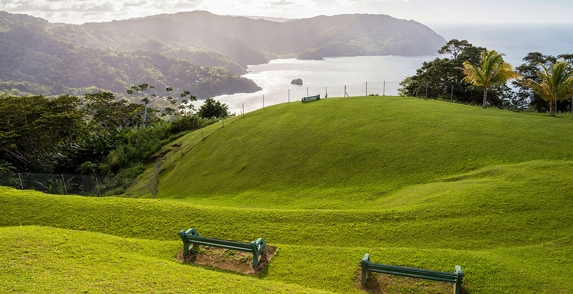 Views from Flagstaff Hill at Charlotteville
