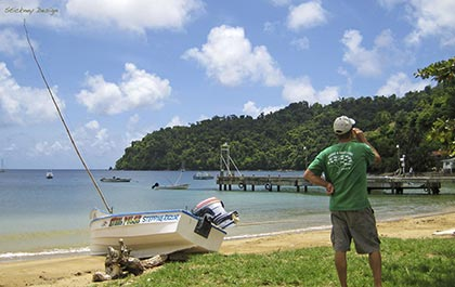 A cold beer on Charlotteville beach