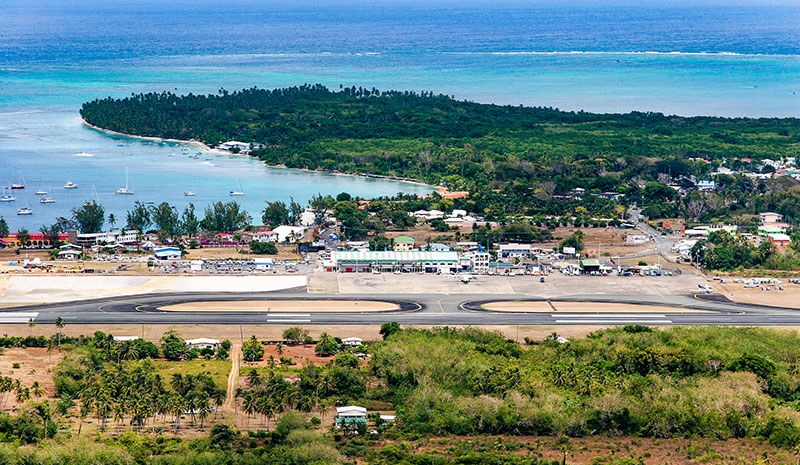 Approaching Tobago airport