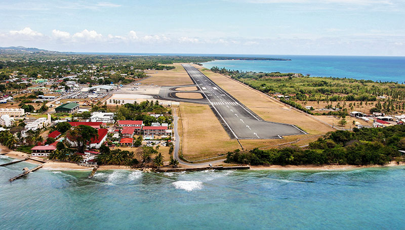 Tobago airport and Crown Point