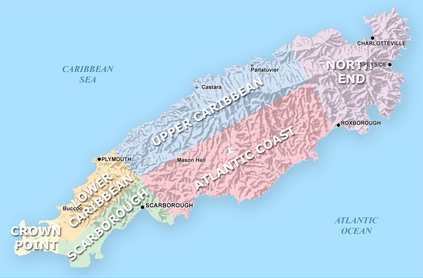 region map of Tobago