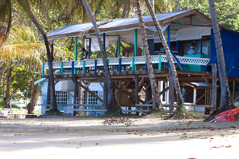 Cascreole Bar & Beach Club, Castara, Tobago <small>(&copy; S.M.Wooler)</small>