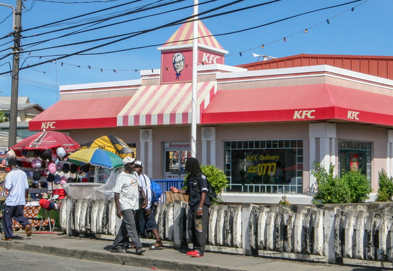 KFC, Scarborough, Tobago <small>(&copy; S.M.Wooler)</small>