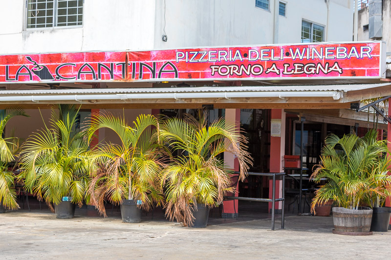 La Cantina Pizzeria, Crown Point, Tobago <small>(&copy; S.M.Wooler)</small>
