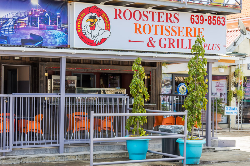 Roosters Rotisserie & Grill, Crown Point, Tobago <small>(&copy; S.M.Wooler)</small>