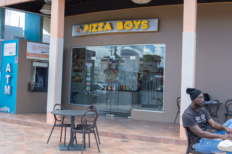 Pizza Boys, Milford Road, Crown Point, Tobago <small>(&copy; S.M.Wooler)</small>
