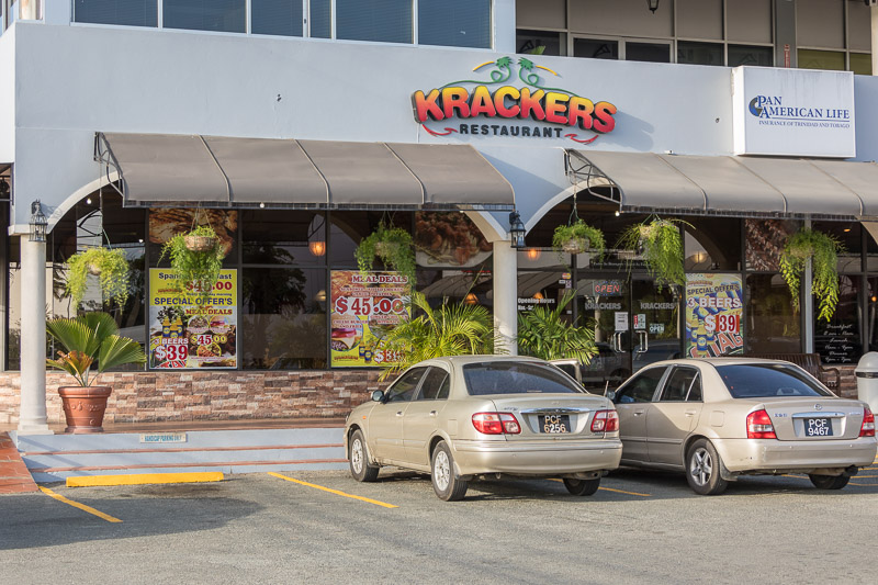 Krackers Restaurant, Shirvan Plaza, Tobago <small>(© S.M.Wooler)</small>