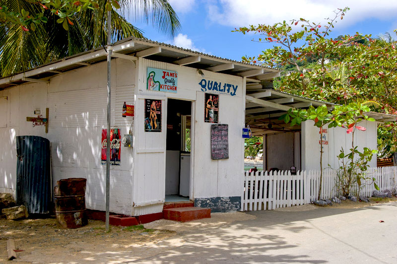 Jane's Quality Kitchen, Charlotteville, Tobago <small>(&copy; S.M.Wooler)</small>