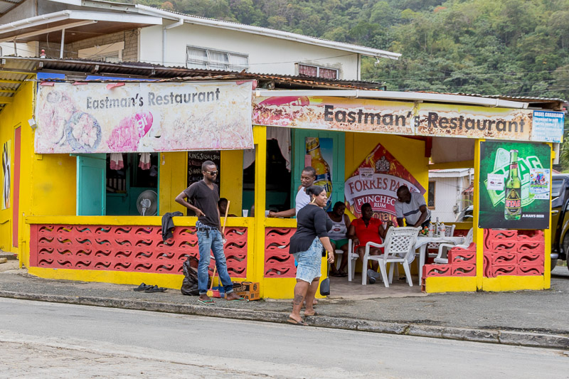 Eastman's Restaurant, Charlotteville, Tobago <small>(© S.M.Wooler)</small>