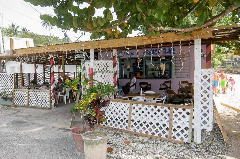 Bago's Beach Bar, Pigeon Point Road, Crown Point, Tobago <small>(&copy; S.M.Wooler)</small>