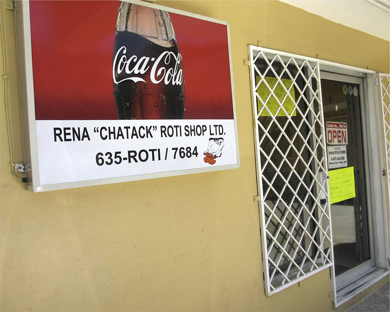 Rena Chatack Roti Shop, Scarborough, Tobago