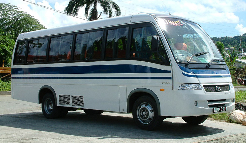 Chinese-built Tobago bus